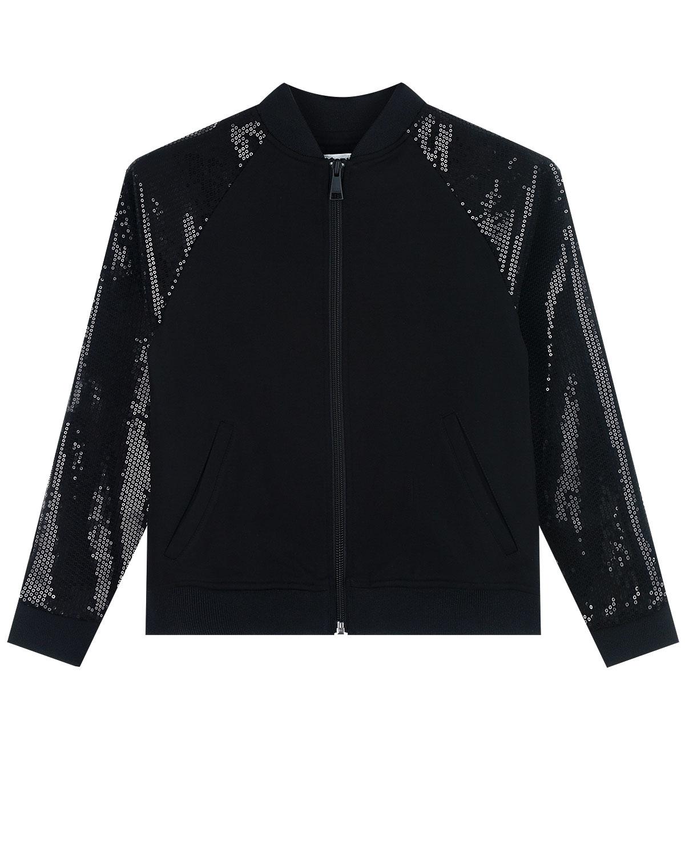 Куртка в стиле бомбер с отделкой пайетками Karl Lagerfeld kids детская фото