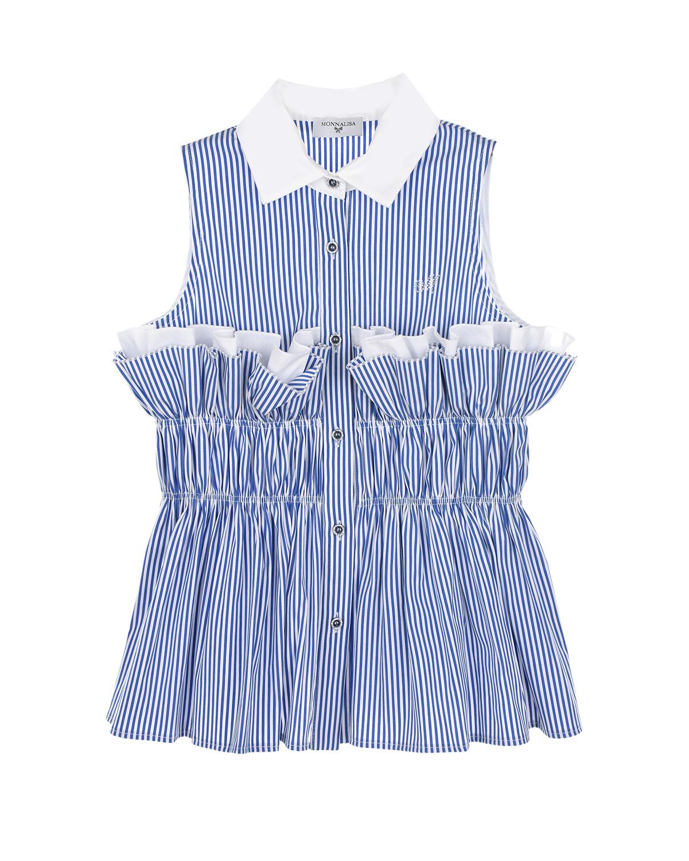 Рубашка без рукавов в полоску Monnalisa детская фото