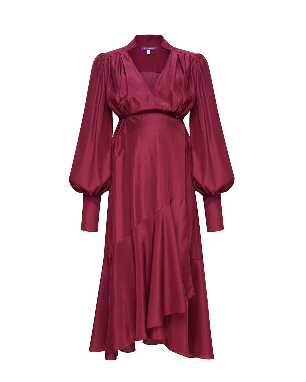 Купить Платье-миди для беременных с запахом Monamoon