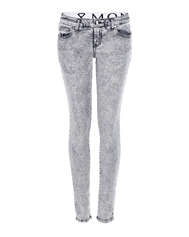 Купить Серые skinny fit джинсы для беременных Monamoon