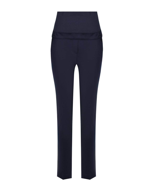Синие офисные брюки для беременных Attesa синего цвета
