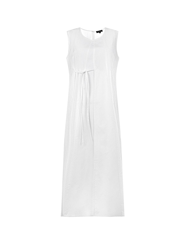 Белое платье для беременных без рукавов Attesa белого цвета