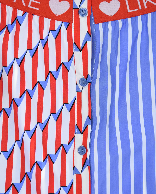 """Двухцветная рубашка с принтом """"LIKE"""" Dan Maralex детская"""