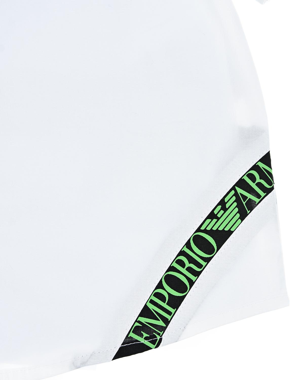 Белая рубашка с короткими рукавами Emporio Armani детская