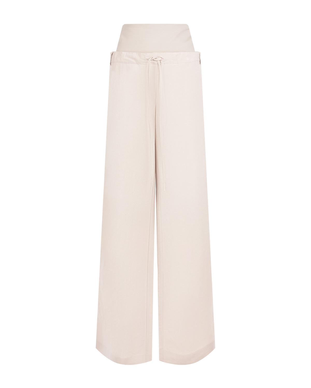 Льняные брюки для беременных Joseph Pietro Brunelli кремового цвета