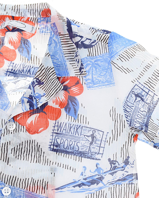 """Рубашка с принтом """"гавайские цветы"""" Arc-en-ciel детская"""