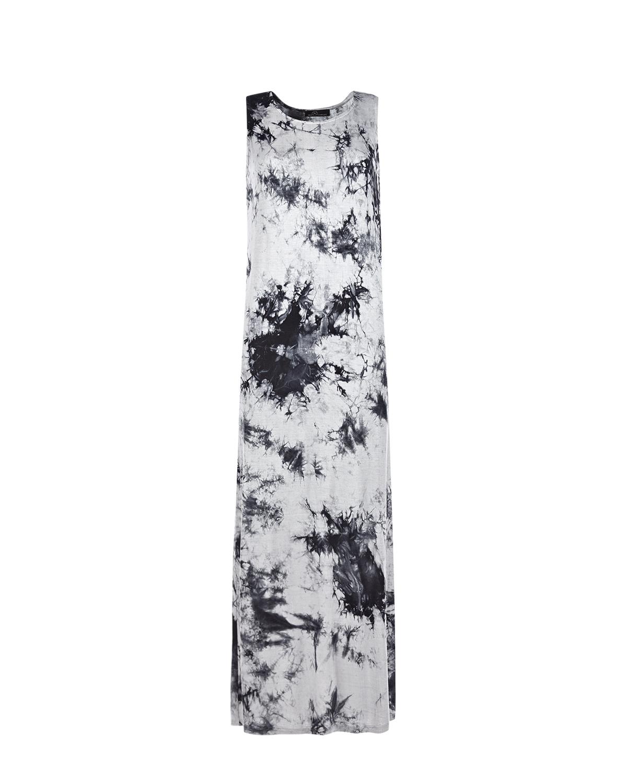 Серое платье с принтом тай-дай Dan Maralex цвет нет цвета