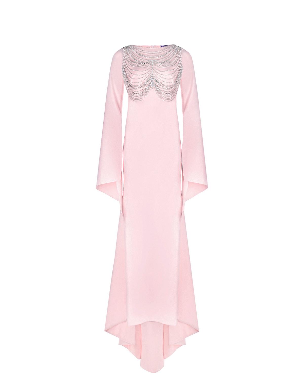 Розовое платье для беременных со стразами Monamoon цвет нет цвета