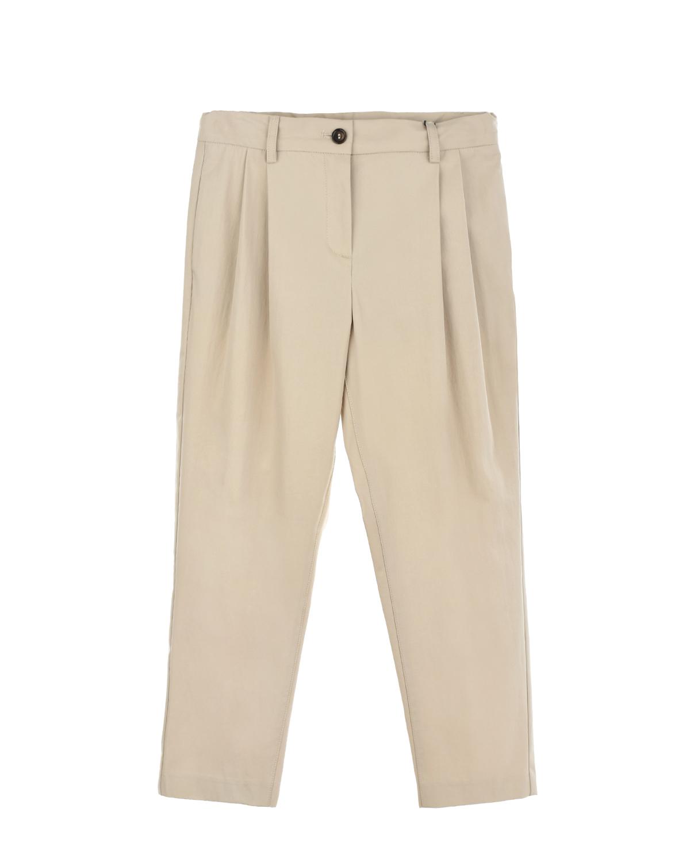 Купить Бежевые брюки бананы Dolce&Gabbana детские, Бежевый, 100%хлопок