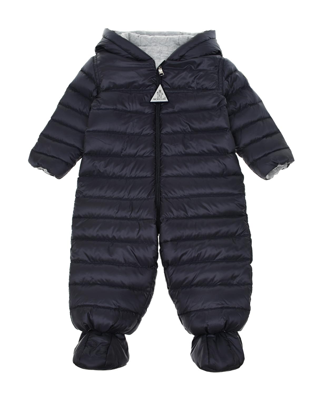 Купить Пуховый комбинезон темно-синего цвета Moncler детский