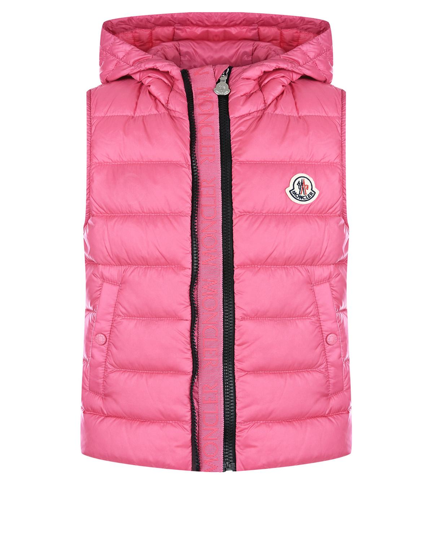 Купить Розовый жилет на двойной молнии Moncler детский, 100%полиамид, 90%пух+10%перо