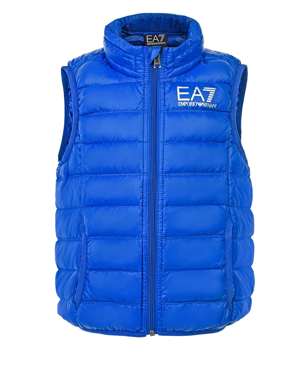 Утепленный жилет с чехлом в комплекте EA7 детский фото