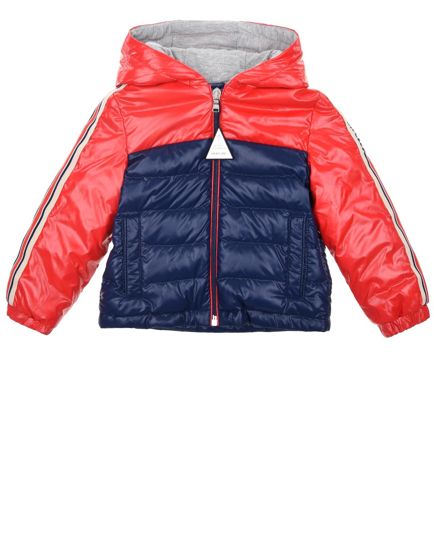 Куртка-пуховик Jonc в стиле color block Moncler детская фото