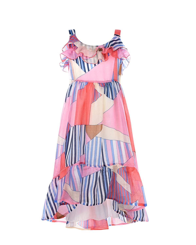 Пляжное платье с абстрактным принтом Aletta.