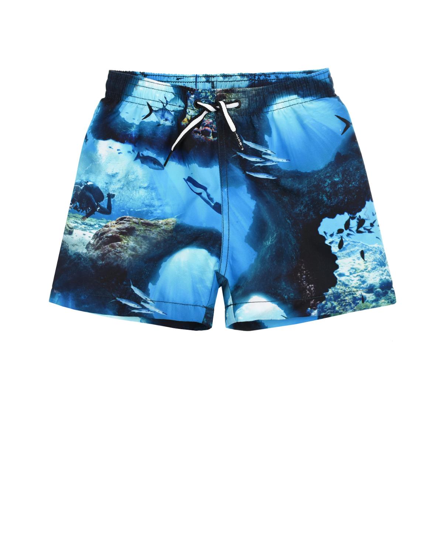 Купить Шорты для купания Niko Cave Camo Molo детские, Синий, 100%полиэстер, 95%нейлон+5%эластан