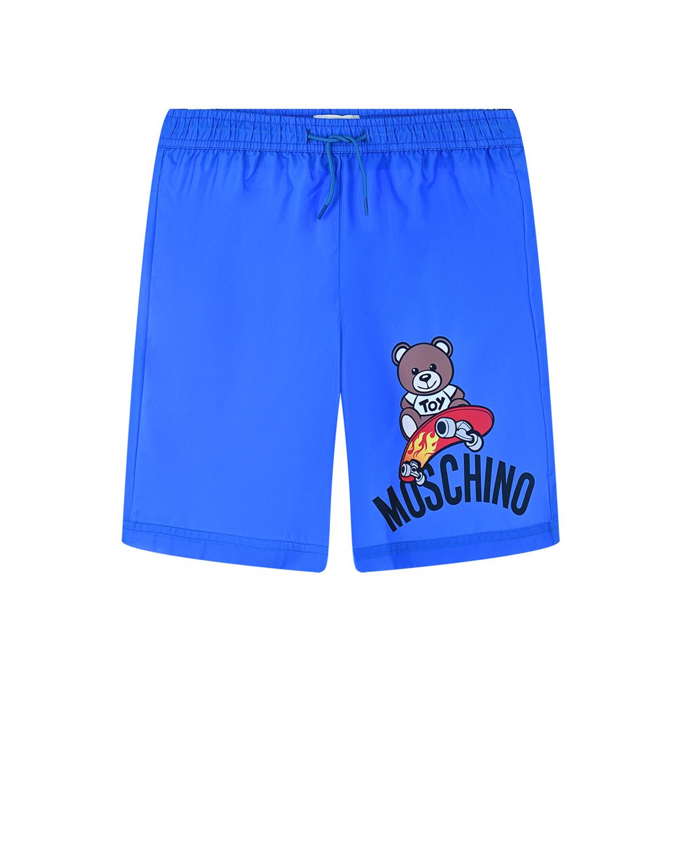 Синие шорты для купания Moschino детские
