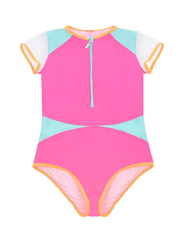 Купить Спортивный купальник в стиле color block SUNUVA детский, Мультиколор, 82%полиэстер+18%эластан, 92%полиэстер+8%эластан