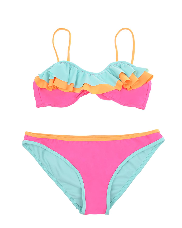 Купить Раздельный купальник с разноцветными оборками SUNUVA детский, Мультиколор, 82%полиэстер+18%эластан, 92%полиэстер+8%эластан