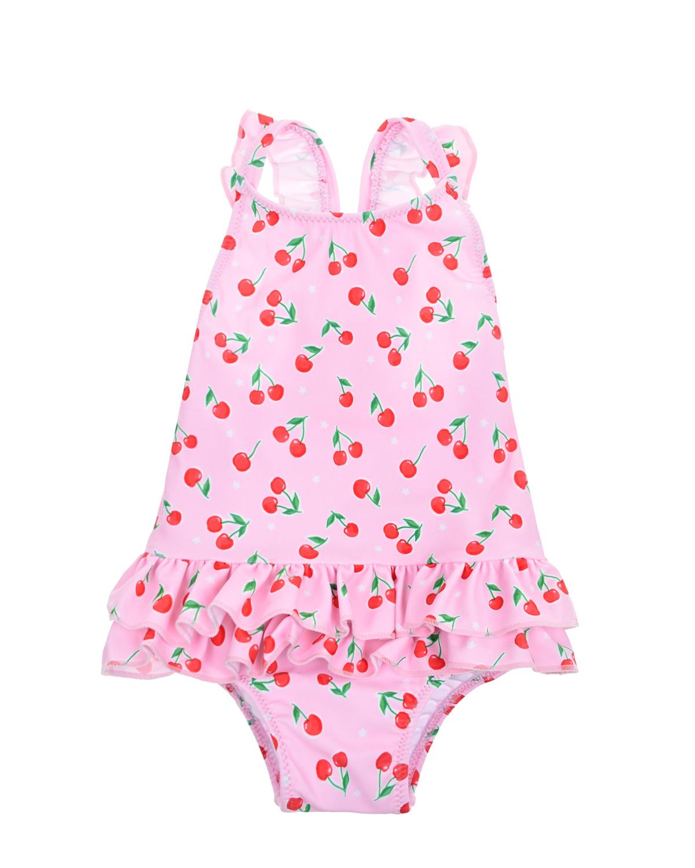Купить Розовый купальник с принтом вишни SUNUVA детский, 82%полиэстер+18%эластан, 92%полиэстер+8%эластан