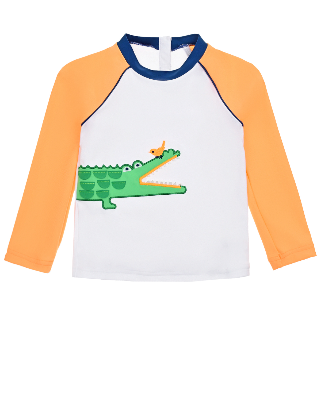 Купить Толстовка с защитой от солнца с принтом Крокодил SUNUVA детская, Мультиколор, 82%полиэстер+18%эластан, 78%полиамид+22%эластан, 78%полиэстер+22%эластан, 82%полиамид+18%эластан