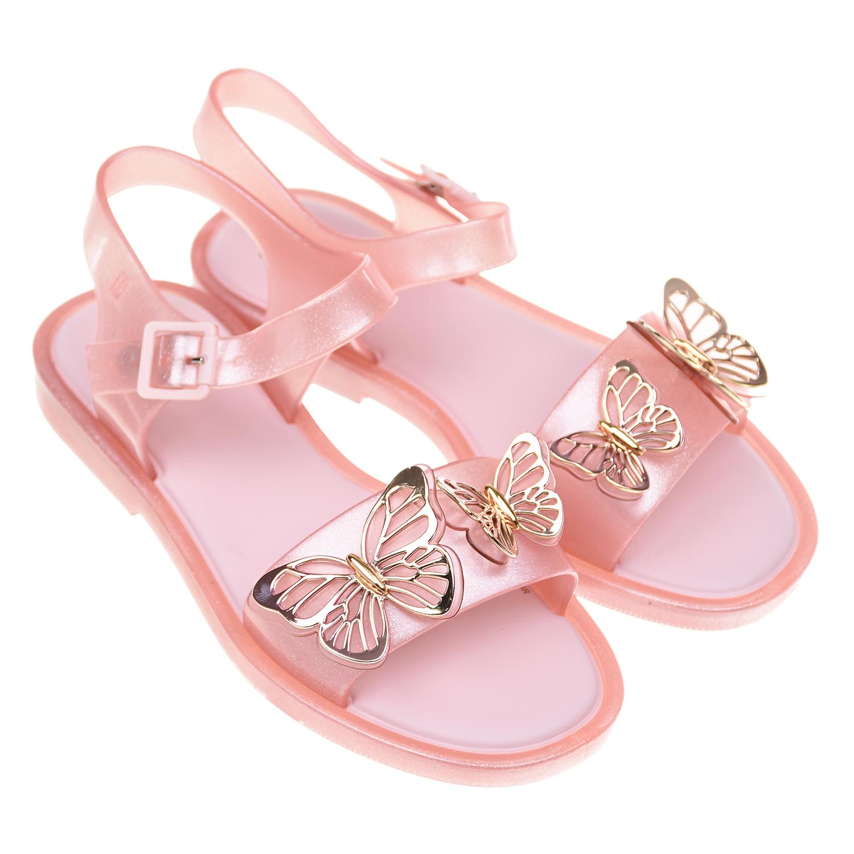 Купить Розовые сланцы-босоножки Melissa детские