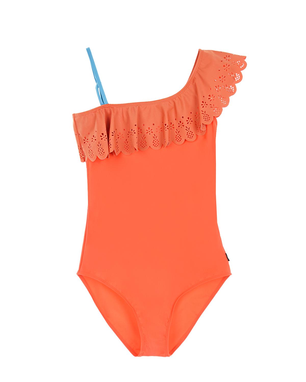 Купить Купальник с рюшей Net Coral Red Molo детский, Оранжевый, 80%нейлон+20%эластан, 85%нейлон+15%эластан