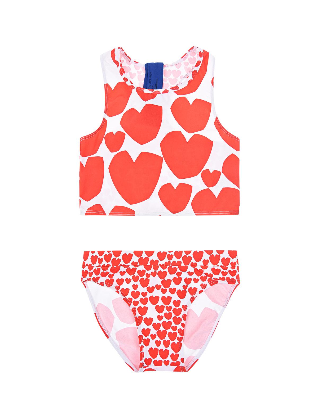 Купить Раздельный купальник с принтом сердца Stella McCartney детский, Мультиколор, 78%полиамид+22%эластан, 100%полиэстер