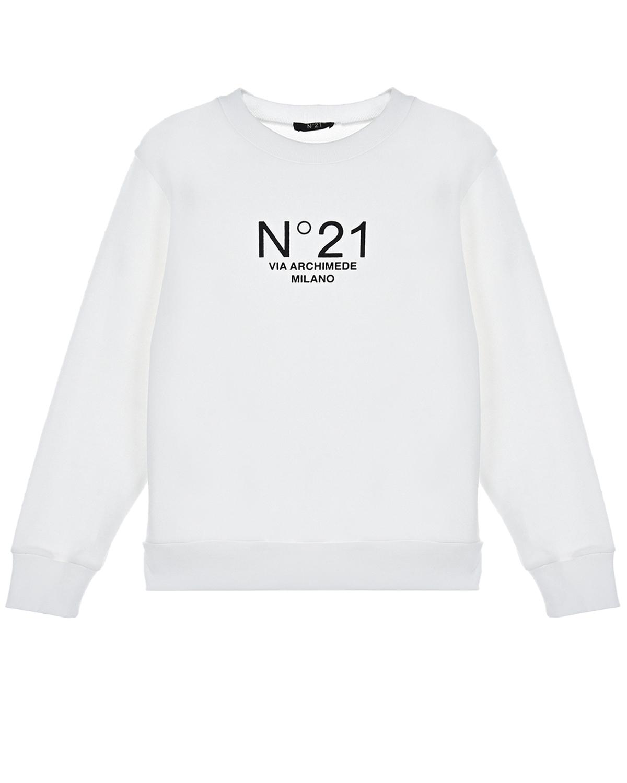 Купить Белый свитшот с логотипом No. 21 детский, 100%хлопок