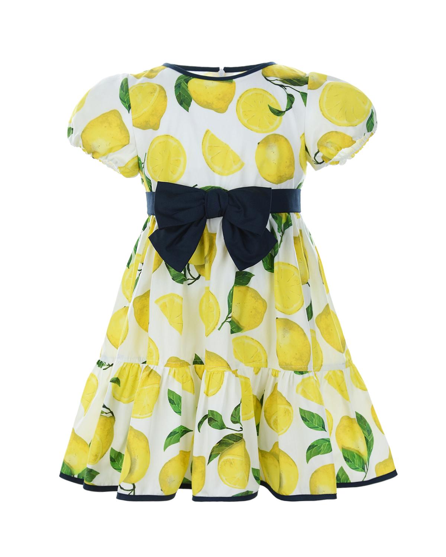 Купить Платье с принтом Лимоны Aletta детское, Мультиколор, 100%хлопок