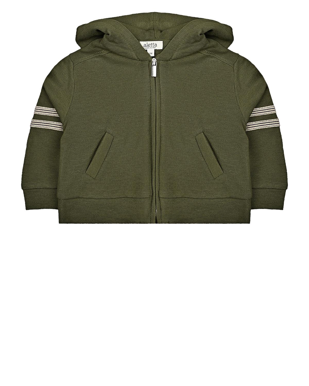 Купить Зеленая спортивная куртка Aletta детская, Зеленый, 100%хлопок