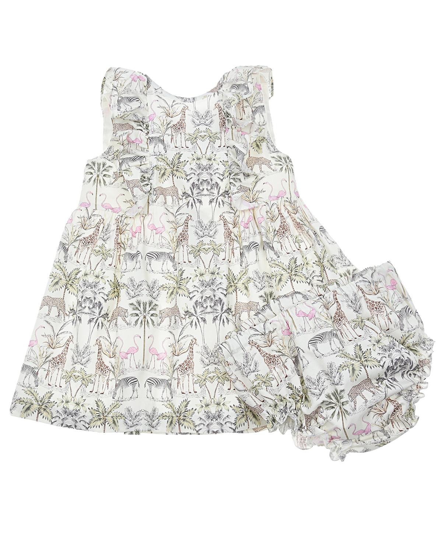 Купить Платье с принтом Сафари Aletta детское, Мультиколор, 100%хлопок