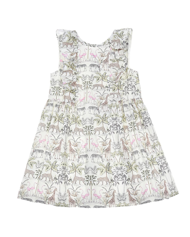 Купить Платье из хлопка с принтом Сафари Aletta детское, Мультиколор, 100%хлопок