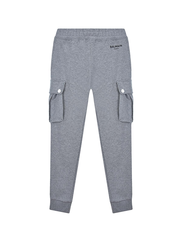 Купить Спортивные брюки с карманами-карго Balmain детские, Нет цвета, 100%хлопок