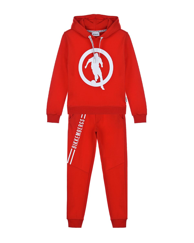 Купить Красный спортивный костюм с логотипом Bikkembergs детский, 100%хлопок