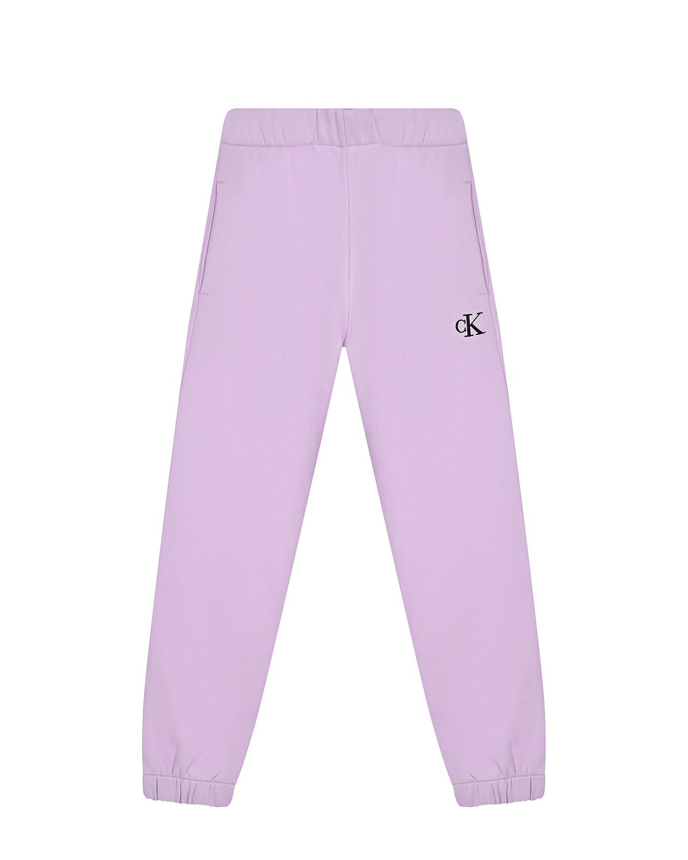 Купить Сиреневые спортивные брюки Calvin Klein детские, Нет цвета, 100%хлопок