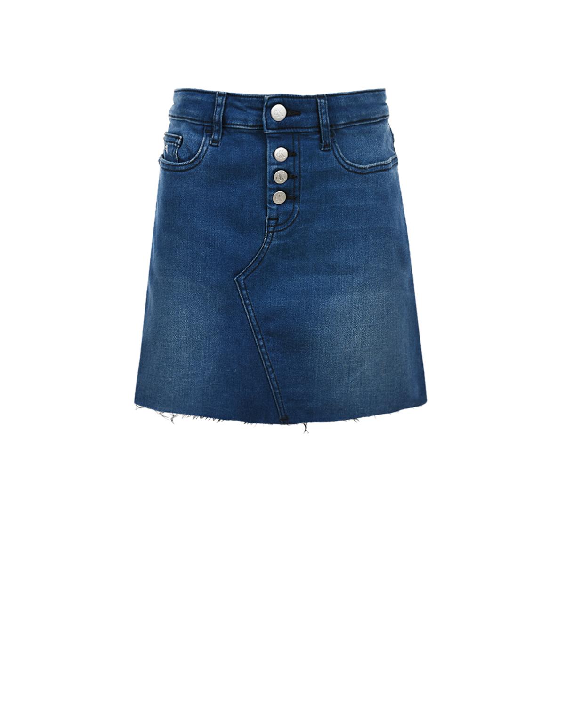 Купить Синяя джинсовая юбка Calvin Klein детская, Синий, 37%хлопок+35%лиоцелл+13%модал+13%полиэстер+2%эластан