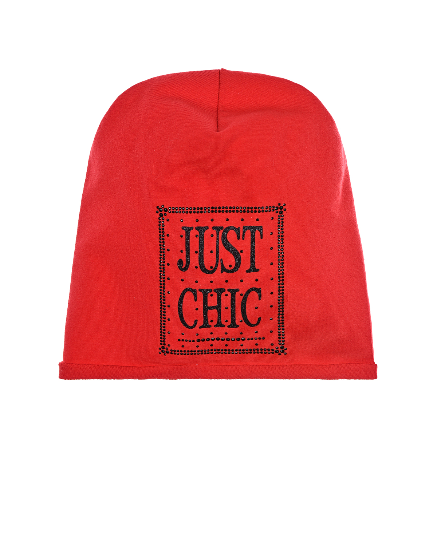 Купить Красная шапка с декором Just Chick Catya детская, Красный, 100%хлопок