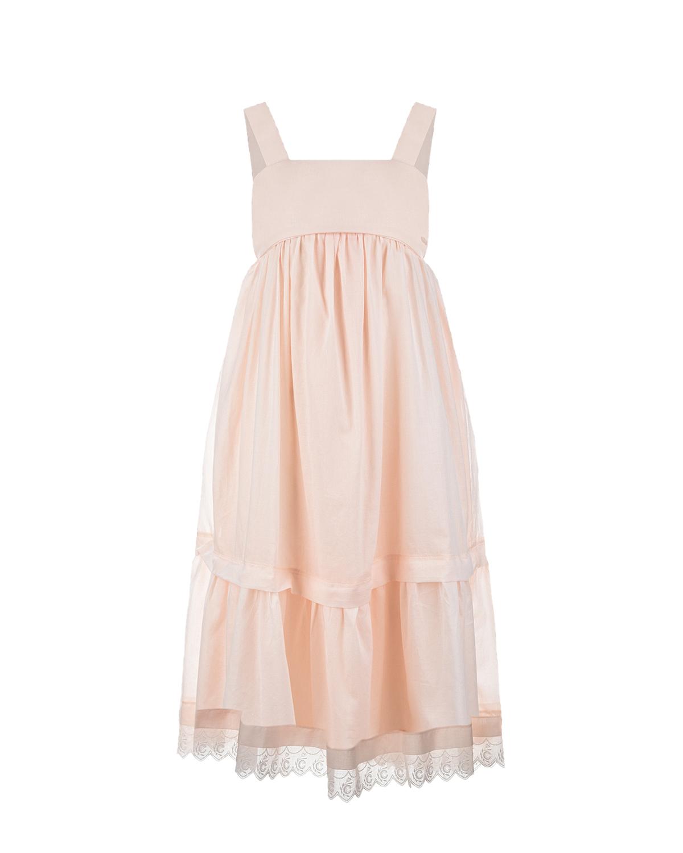Купить Сарафан персикового цвета Chloe детский, Нет цвета, 100%хлопок