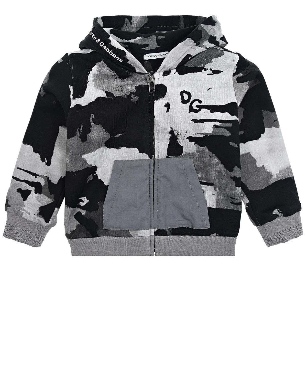 Купить Камуфляжная спортивная куртка Dolce&Gabbana детская, Мультиколор, 96%хлопок+4%эластан, 65%полиэстер+35%хлопок