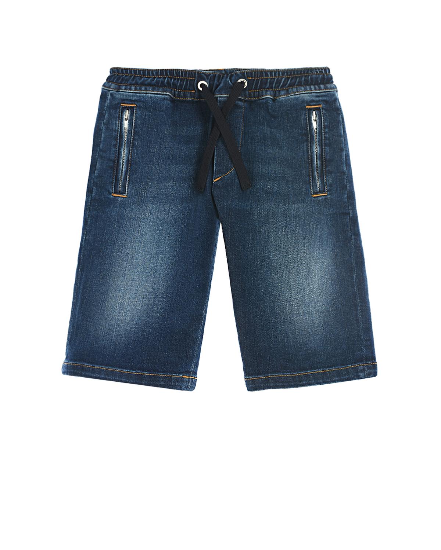 Купить Синие джинсовые бермуды Dolce&Gabbana детские, Синий, 98%хлопок+2%эластан, 75%полиэстер+25%вискоза