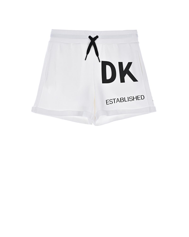 Купить Белые шорты на завязках DKNY детские, Белый, 100%хлопок