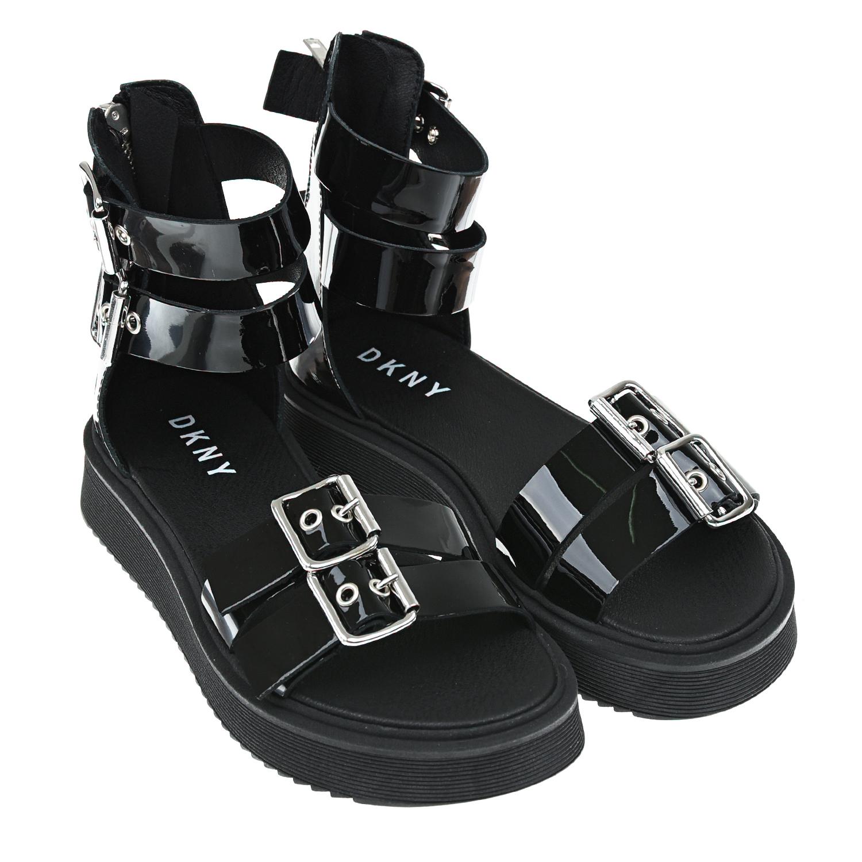 Черный лакированные босоножки DKNY детский