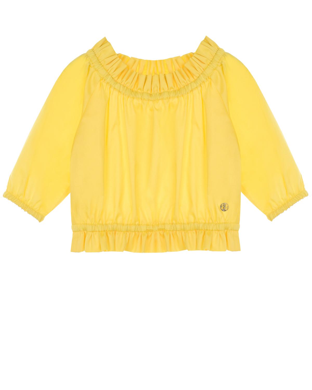 Купить Желтый топ с рюшами Dan Maralex детский, 100%хлопок