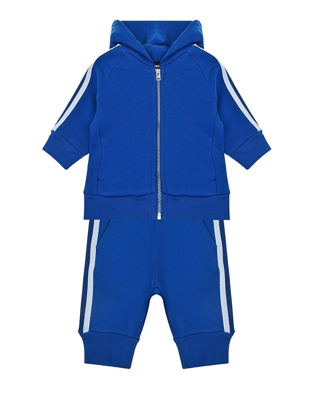 Купить Синий спортивный костюм с лампасами Diesel детский, 100%хлопок, 70%полиамид+30%полиэстер