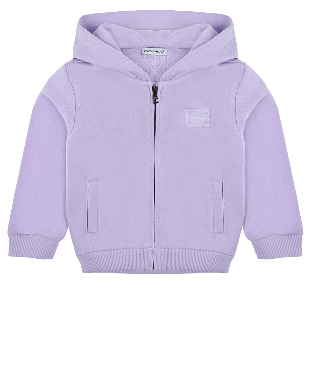 Купить Сиреневая спортивная куртка с капюшоном Dolce&Gabbana детская, Нет цвета, 100%хлопок, 95%хлопок+5%эластан