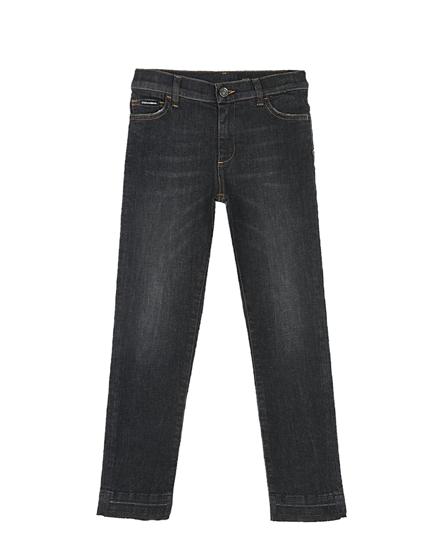 Купить Темно-серые джинсовые брюки Dolce&Gabbana детское, Серый, 98%хлопок+2%эластан, 100%вискоза