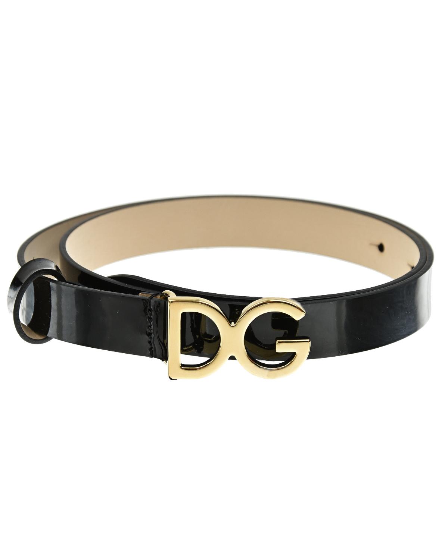 Купить Черный ремень с логотипом Dolce&Gabbana детский, 100%нат.кожа. 100%нат.кожа