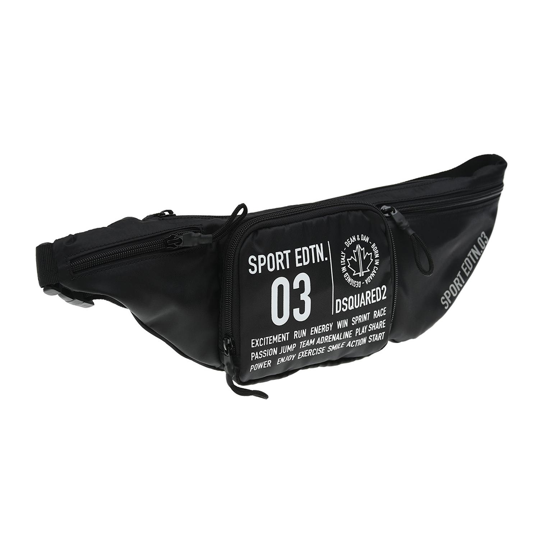 Купить Черная поясная сумка с принтом Sport edtn 03 , 15х7х45 см Dsquared2 детская, Черный, 100%полиэстер, 100%хлопок