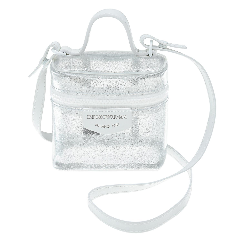 Купить Прозрачная сумка, 11x12x7 см Emporio Armani детская, Нет цвета, 100%полиуретан. 100%нат.кожа. 100%полиуретан