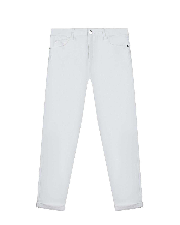 Купить Белые джинсы прямого кроя Emporio Armani детские, Белый, 61%хлопок+39%лиоцелл